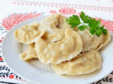 вареники с картофелем рецепт