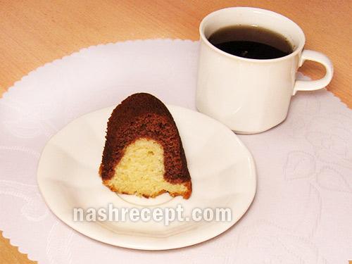 кекс творожный веночек в разрезе - keks tvorozhnyi venochek v razreze