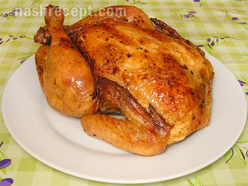 курица запеченная в духовке - kuritsa zapechennaya v duhovke