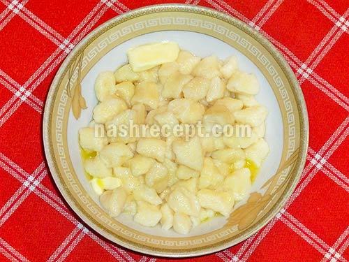 ленивые вареники с маслом - lenivye vareniki s maslom