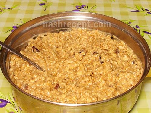 тесто для овсяного печенья - testo dlia ovsianogo pechenia