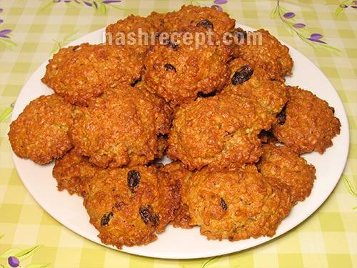 овсяное печенье из хлопьев - ovsianoe pechenie iz hlopiev