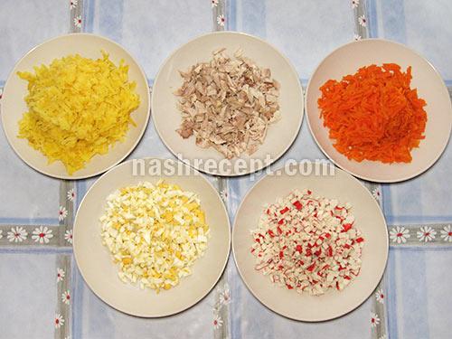 салат морская звезда продукты - salat morskaya zvezda produkty