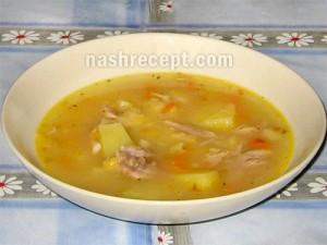суп гороховый с курицей - sup gorohovyi s kuritsey
