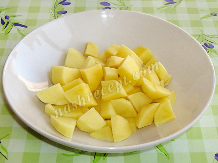 картошка для супа горохового с курицей