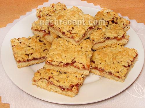 рецепт пирога с вареньем с фото