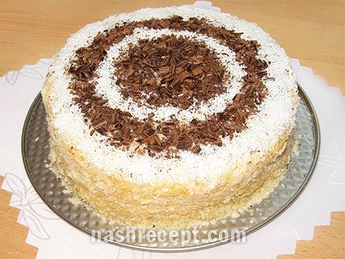 слоеный торт Наполеон с заварным кремом - sloenyi tort Napoleon s zavarnym kremom