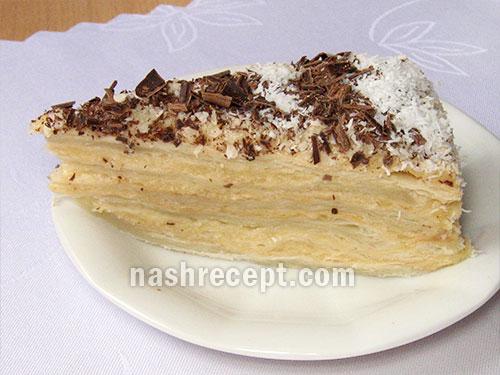 торт Наполеон в разрезе - tort Napoleon v razreze