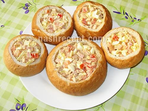 наполняем булочки начинкой - napolnyaem bulochki nachinkoy