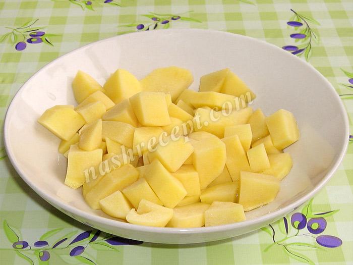 картошка для грибного супа с перловкой - kartoshka dlya gribnogo supa s perlovkoy