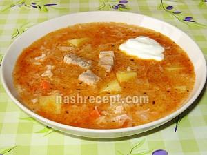 украинский капустняк с рисом