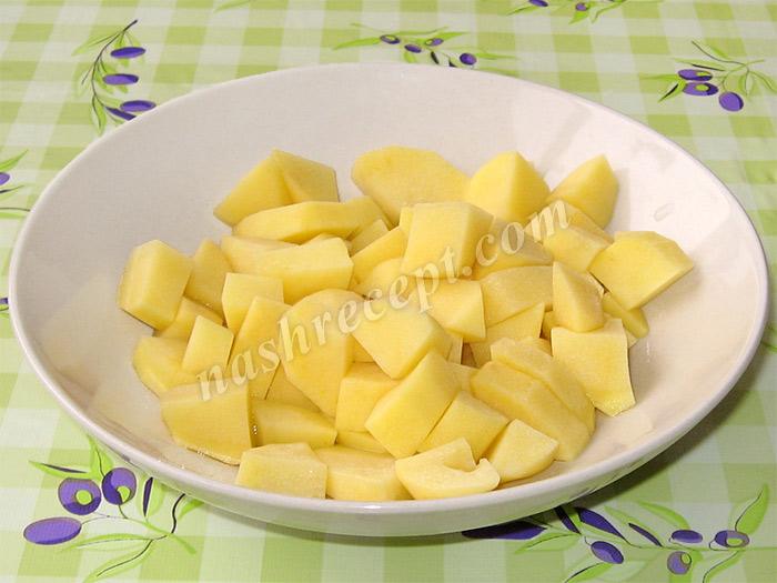картофель для капустняка с рисом - kartofel dlya kapustnyaka s risom
