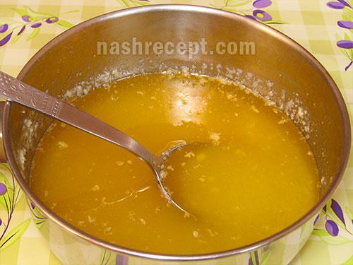 растопленный маргарин с сахаром - rastoplennyi margarin s saharom
