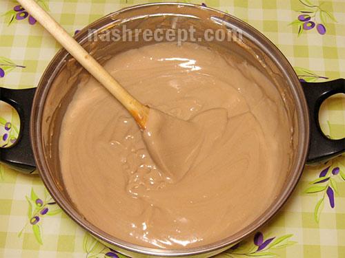 шоколадный заварной крем - shokoladnyi zavarnoy krem