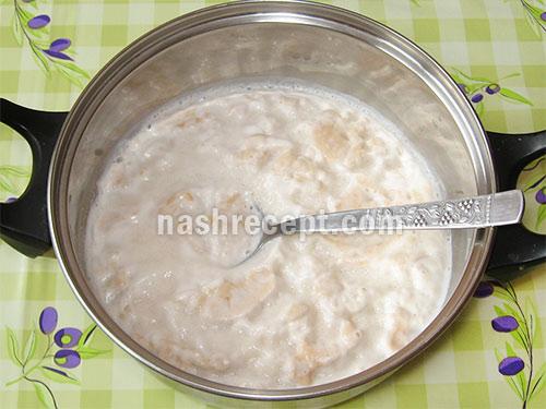 дрожжи, разведенные в молоке - drozhzhi, razvedennye v moloke