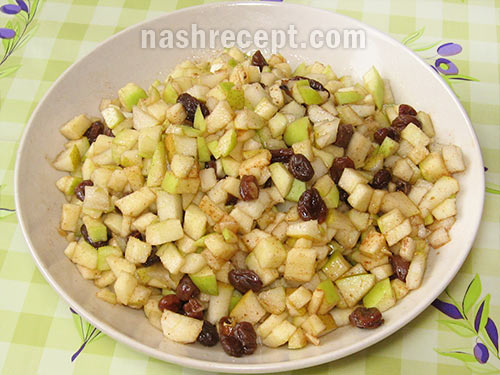 яблочная начинка для пирожков - yablochnaya nachinka dlya pirozhkov