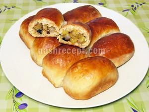 пирожки с яблоками из дрожжевого теста - pirozhki s yablokami iz drozhzhevogo testa
