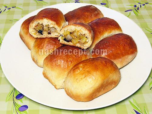 Пирожки на дрожжах с капустой жареные