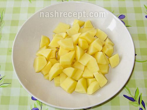 картофель для рассольника - kartofel dlya rassolnika