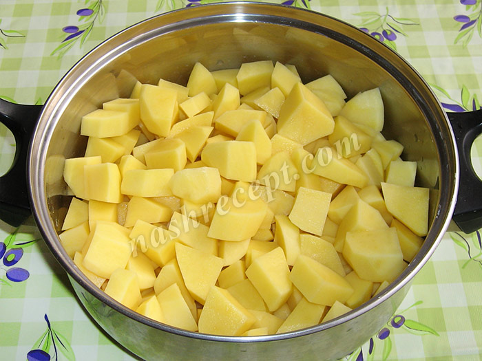 картофель для тушеной картошки - kartofel dlya tushenoy kartoshki