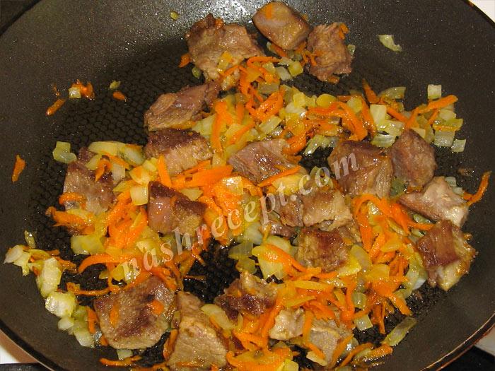мясо с луком и морковью для тушеной картошки - myaso s lukom i morkovyu dlya tushenoy kartoshki