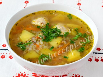 гречневый суп с курицей - grechnevyi sup s kuritsey