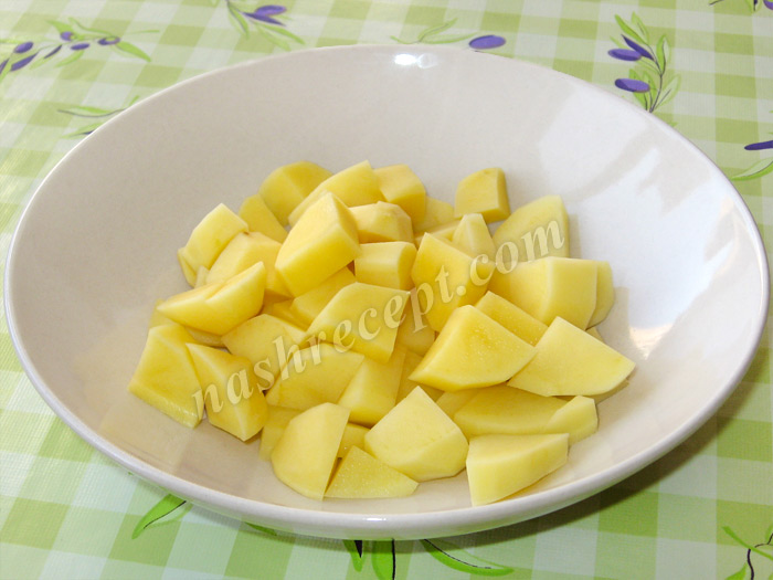 картофель для гречневого супа с курицей - kartofel dlya grechnevogo supa s kuritsey