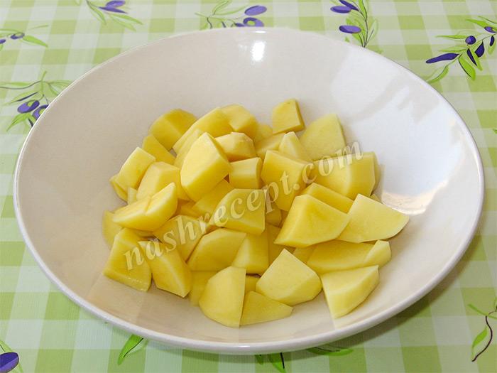 картошка для гречневого супа с мясом - kartoshka dlya grechnevogo supa s myasom