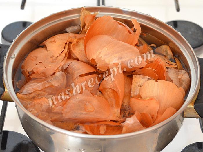 луковая шелуха для окрашивания яиц - lukovaya sheluha dlya okrashivaniya yaits