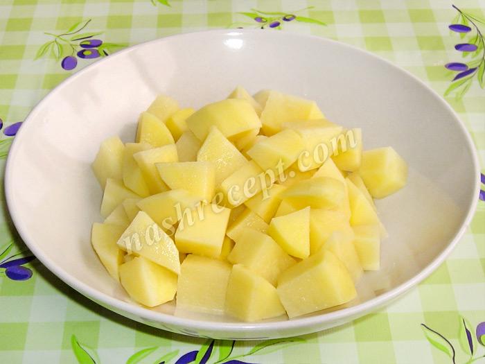 картофель для красного борща с чечевицей - kartofel dlya krasnogo borscha s chechevitsey