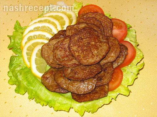 оладьи из куриной печени - oladii iz kurinoy pecheni