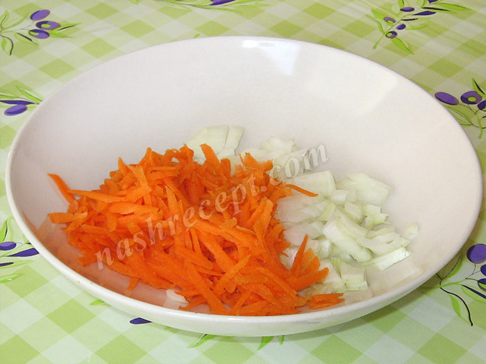 лук с морковью для ухи из путассу - luk s morkovyu dlya uhi iz putassu
