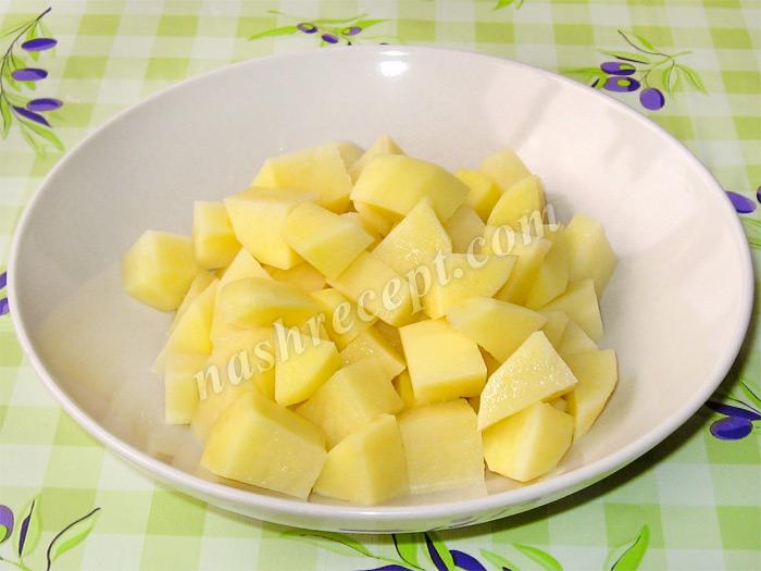 картофель для грибного супа с ячневой крупой - kartofel dlya gribnogo supa s yachnevoy krupoy