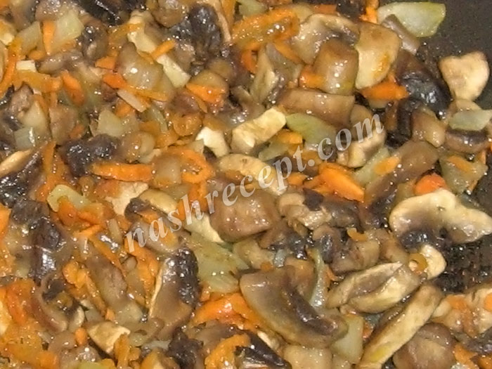 грибы с овощами для супа с ячневой крупой - griby s ovoschami dlya supa s yachnevoy krupoy