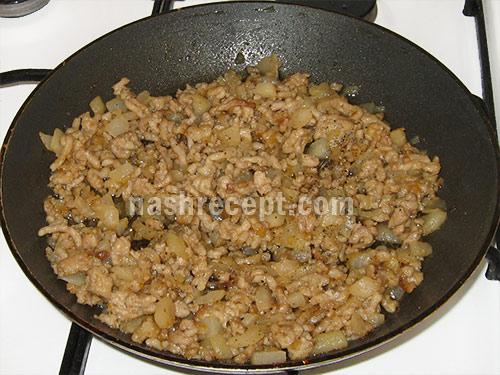 мясная начинка для фарширования кольраби - myasnaya nachinka dlya farshirovaniya kolrabi