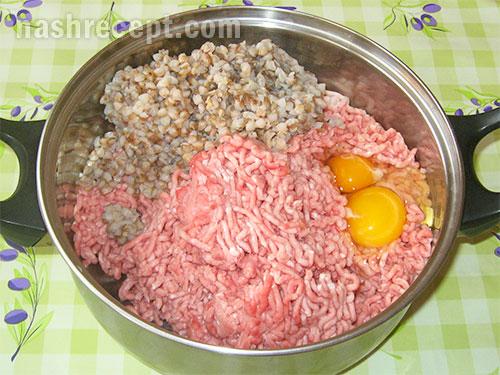 готовим фарш для мясных котлет с гречкой - gotovim farsh dlya myasnyh kotlet s grechkoy