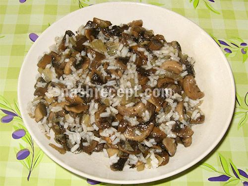 начинка рис с грибами - nachinka ris s gribami