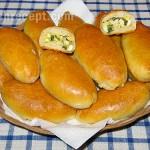пирожки с луком и яйцом - pirozhki s lukom i yaytsom