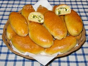 Пирожки с зеленым луком и яйцом пошаговый рецепт