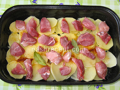 слой мяса для жаркого - sloy myasa dlya zharkogo