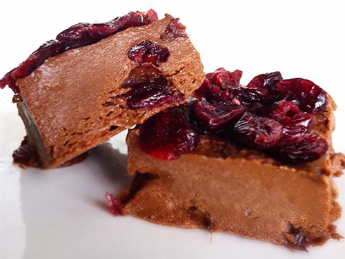 шоколадный щербет с брусникой - shokoladnyi scherbet s brusnikoy
