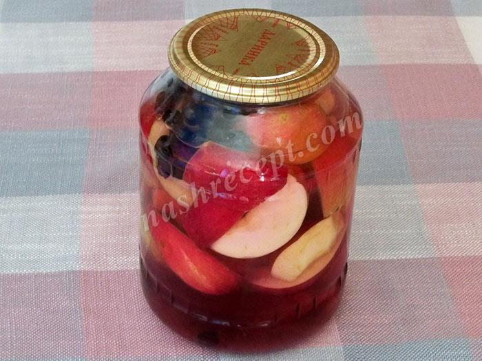 Компот яблоки черноплодная рябина на зиму