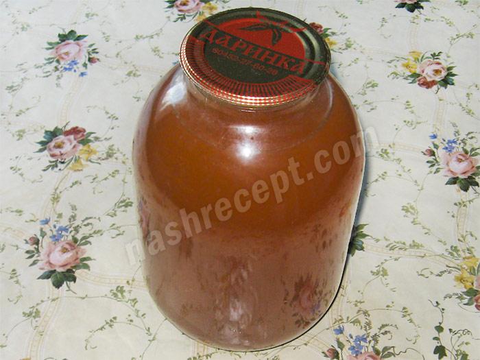 консервированный яблочный сок на зиму - konservirovannyi yablochnyi sok na zimu