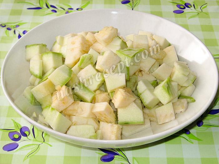 кабачки для картофельного рагу - kabachki dlya kartofelnogo ragu