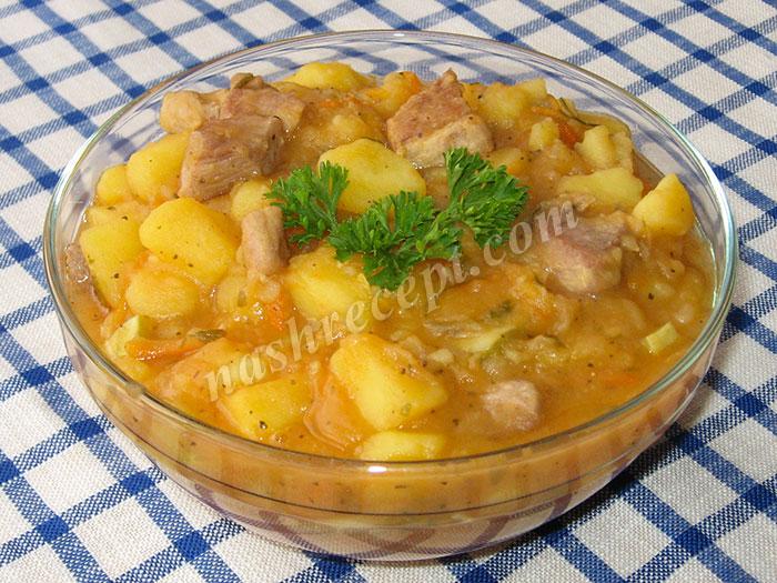 картофельное рагу с кабачками и мясом - kartofelnoe ragu s kabachkami i myasom