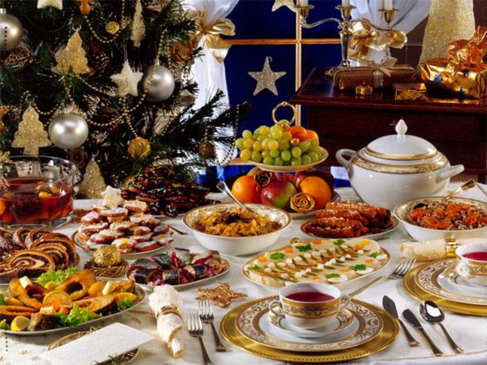 праздничный стол к Новому году - prazdnichnyi stol k Novomu godu