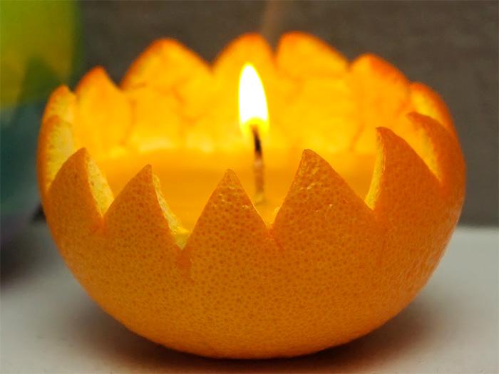апельсиновый подсвечник - apelsinovyi podsvechnik
