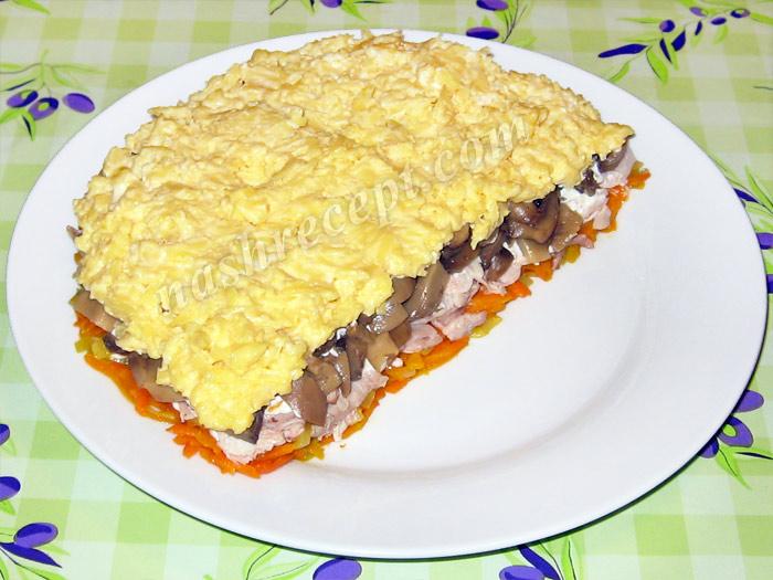 салат апельсиновая долька: сыр и желтки - salat apelsinovaya dolka: syr i zheltki