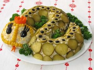 салат змейка - salat zmeyka