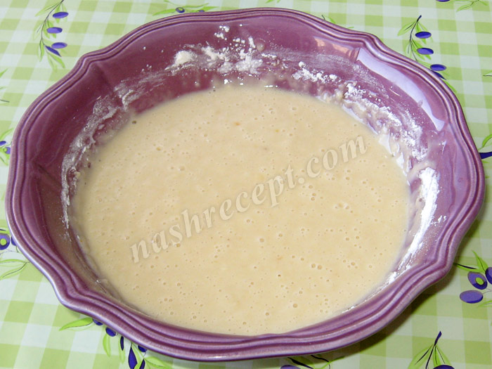 тесто для фруктового пирога - testo dlya fruktovogo piroga